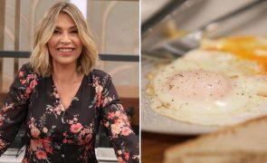Clara De Sousa O truque infalível da pivô para fazer o ovo estrelado perfeito