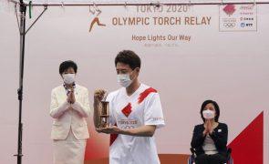 Tóquio2020: Chama olímpica chega a Tóquio para uma cerimónia sem público