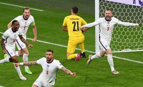 Euro2020: Luke Shaw marcou golo mais rapido em finais de Europeus [vídeo]