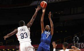 Tóquio2020: Estados Unidos derrotados na estreia do basquetebol masculino