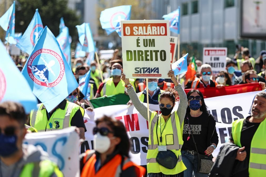 Insolvência da Groundforce não cessa contratos e salários vão ser pagos -- sindicato