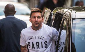 Messi oficializado como reforço do Paris Saint-Germain