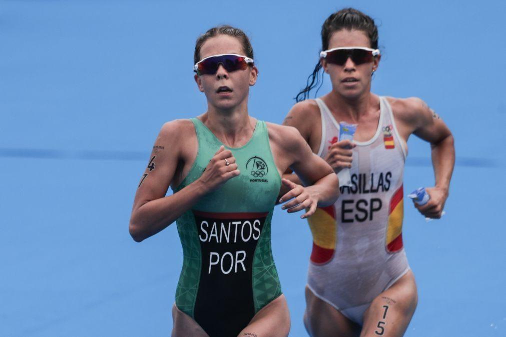 Melanie Santos 15.ª classificada na etapa final do circuito mundial de triatlo