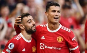 Cristiano Ronaldo marca o primeiro golo da Liga dos Campeões desta época