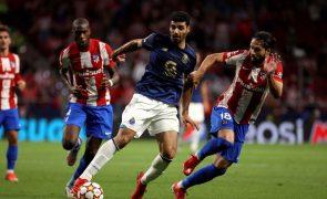FC Porto estreia-se na Champions com nulo na casa do Atlético de Madrid