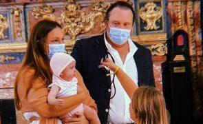Joana e Eduardo Madeira batizam filha mais nova [fotos]