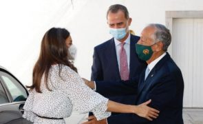 Marcelo Rebelo de Sousa recebe Felipe VI e Letizia em almoço privado em Cascais