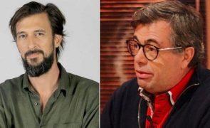 Quintino Aires magoado com Bruno Nogueira após piada sobre polémica com TVI