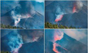 Novo fluxo de lava do vulcão de La Palma destrói mais edifícios